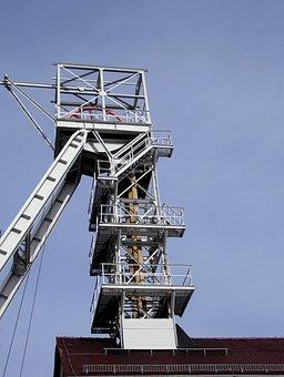 Headframe, Freiberg, Saxony, Steel Scaffolding