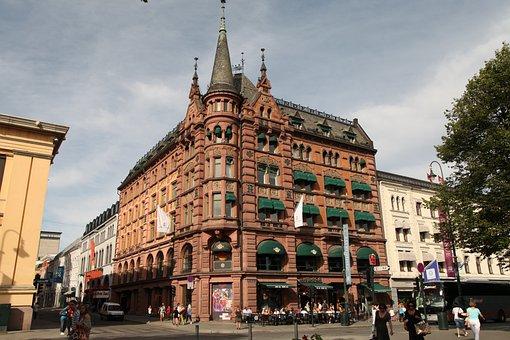 Norway, Oslo, Karl Johan Street, City, Town, In History