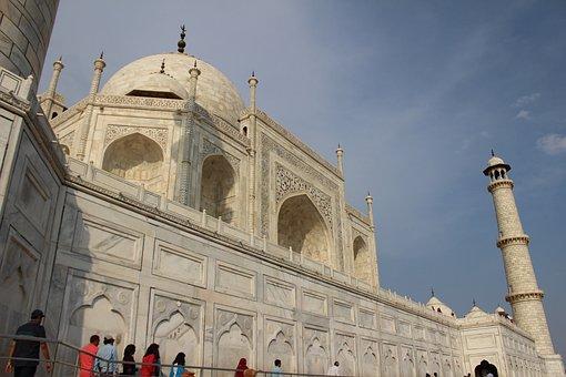 Taj Mahal, India, Agra, Taj, Mahal, Asia, Marble