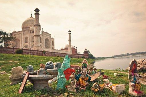 Agra, India, Mahal, Taj, Tourism, Asia, Architecture