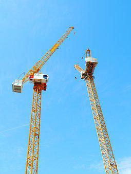 Crane, Luffing Crane, Industry, Industrial, Sky