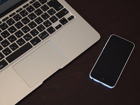 Mac Book Air, Iphone 5c, Apple, Note, Phone