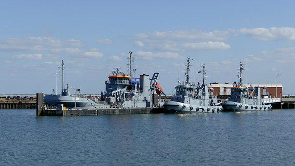 Marina, Ships, Warship, Port, North Sea, Wilhelmshaven