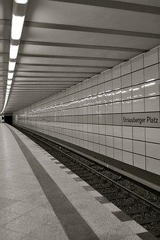 Metro, Tunnel, Platform, Transport