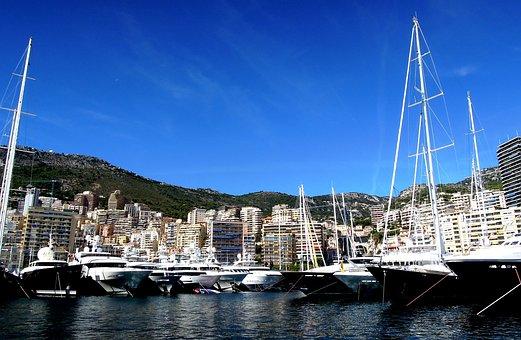 Monaco, Harbour, Yacht, Monte, Carlo, Mediterranean