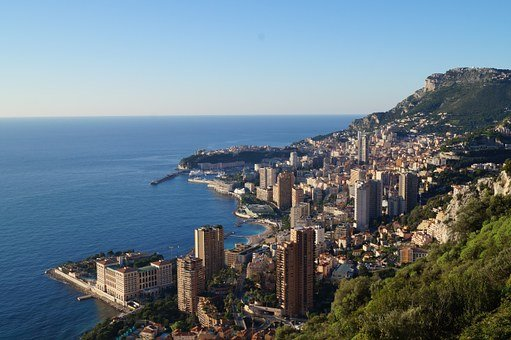 Monaco, Monte Carlo, Sea, View, Mediterranean, City
