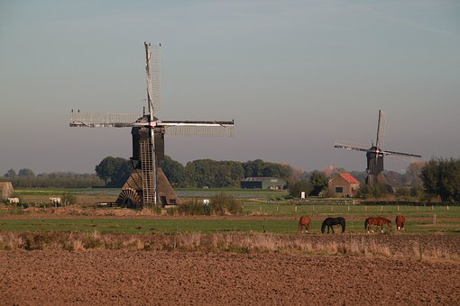 Dutch, Landscape, Mill, Nature, Dutch Landscape