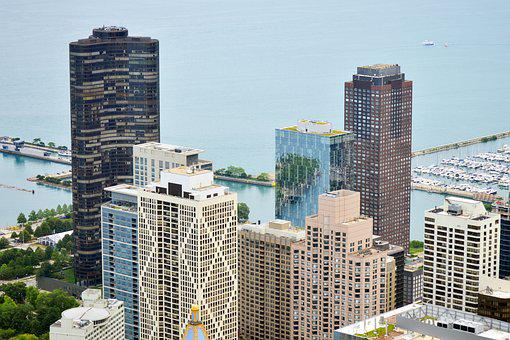 Downtown, Chicago, Lake Michigan, Navy Pier, Navy, Pier