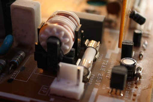 Hedging, Coil, Circuit Board, Electronics, Old