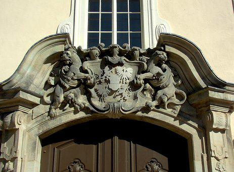 Coat Of Arms, Princely, Architecture, Natural Stone