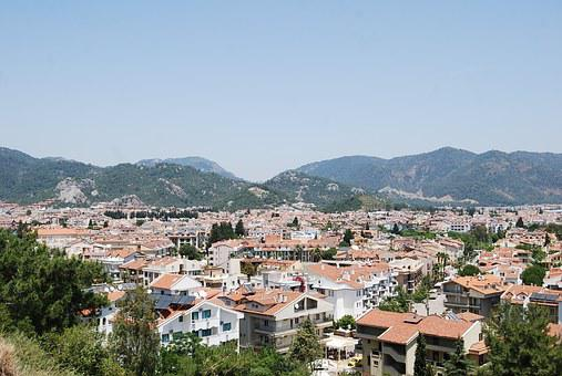 Marmaris, Turkey, Town, Rooftops, Turkish Riviera, View