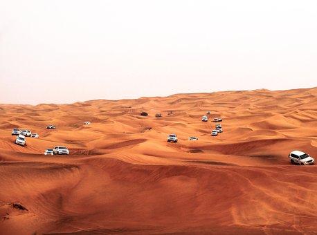 Dubai, Sahara, Travel, Dunes, Desert, Sand, 4x4