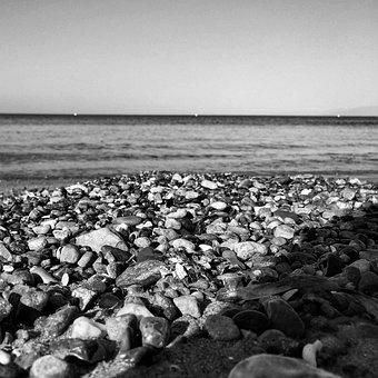 Pebbles, Beach, Water, Sea, Seascape, Nature, Summer