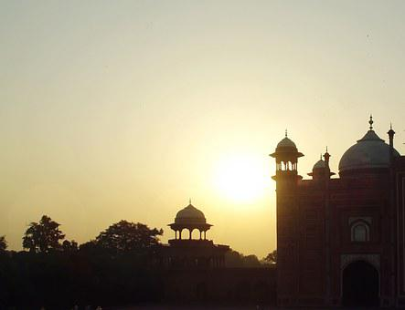 India, Agra, Taj Mahal, Sunset, Shadow, Thick Cloud