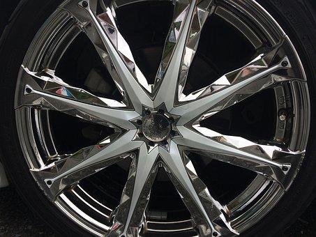 Car, Wheel, Toyota, Automotive, Shiny, Reflection