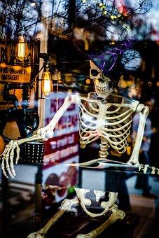 Halloween, Skeleton, Spooky, Scary, Fun, October