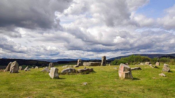 Scotland, Aberdeenshire, Dee-tal, Stone Circle, Old