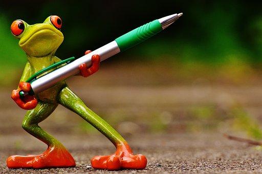 Frog, Holder, Pen, Keep, Cute, Fun, Fig, Sweet, Office