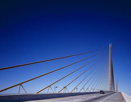 Bridge, Suspension Bridge, Sunshine Skyway, Tampa Bay