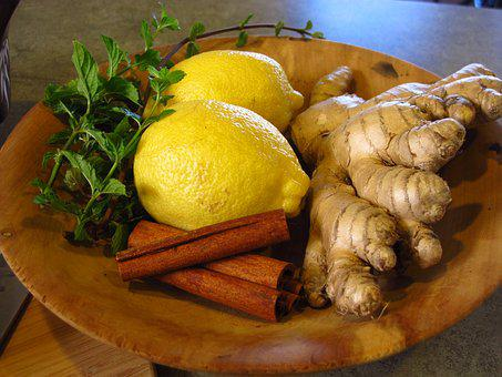 Lemon, Ginger, Cinnamon, Mint, Ingredient, Tea, Herb