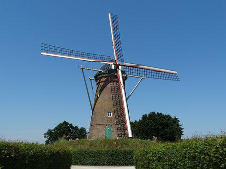 Wind Mill, Wicks, Historic Building, The Kempen