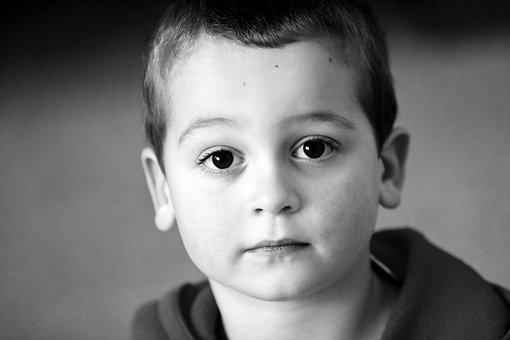 Little Boy, Boy, Child, Sad, Tired, Big Eyes, Kid