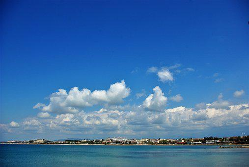 Vacations, Turkey, Sky, Clouds, Sea, Water