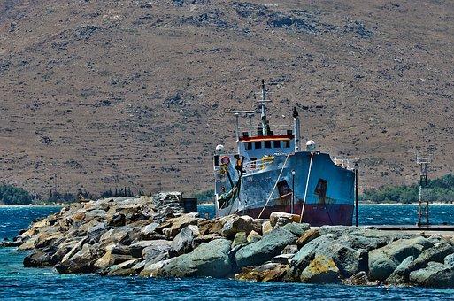 Boat, Sea, Anchorage, Colorful, Pier, Water, Seascape