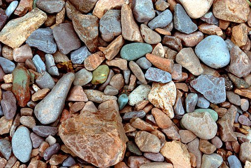 Lake Superior Beach Gravel, Background, Texture