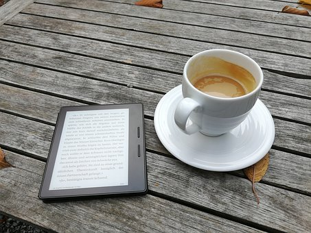 Break, Coffee, Kindle, Read, Rest, Book, Relaxation