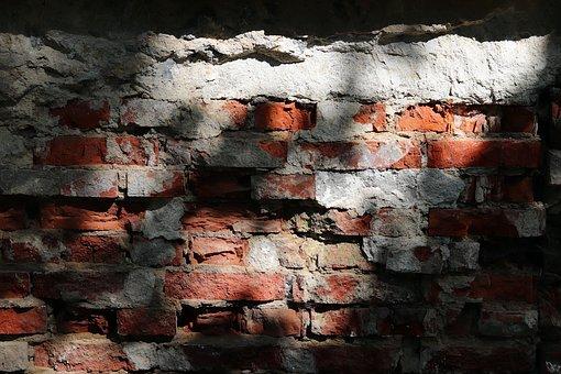 Wall, Brick, Old, Shading