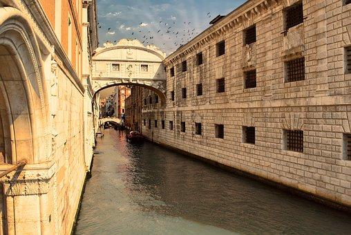 Bridge, Sighs, Venice, Architecture, Channel, Italy