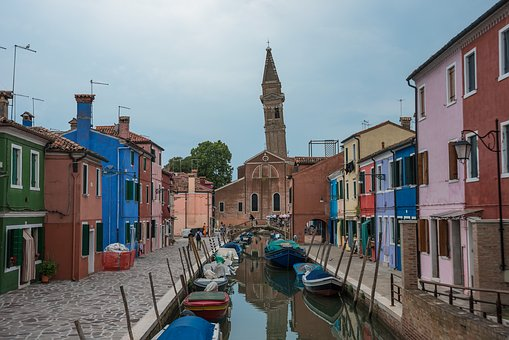 Island, City, Architecture, Channel, Blue, Tourism