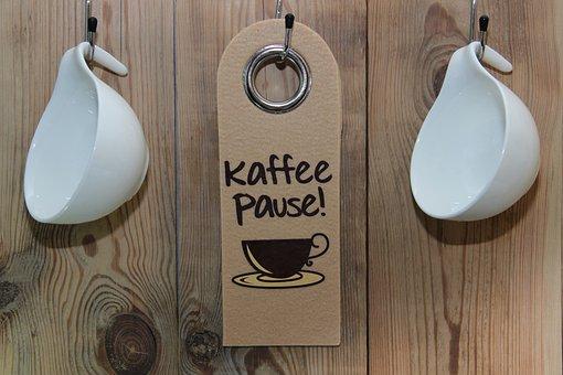 Coffee, Coffee Break, Shield, Wooden Wall, Hook, T