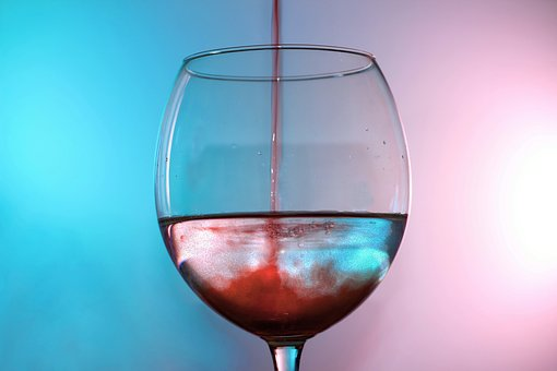 Glass, Wine, Water, Mix, Color, Color Game, Red