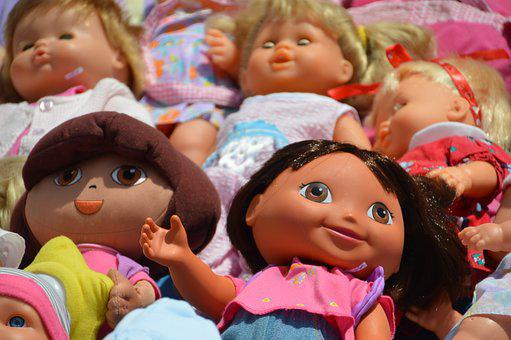 Dolls, Children, Exhibition, Empty Attic, Flea Market