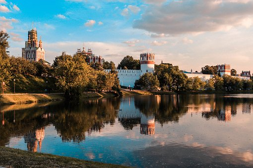 Landscape, Moscow, Sky, Horizon, Evening, Nature
