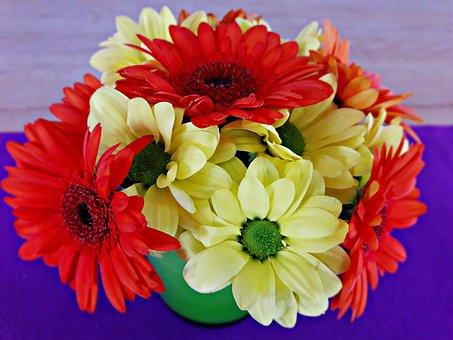 Flowers, Vase, Color, Bouquet