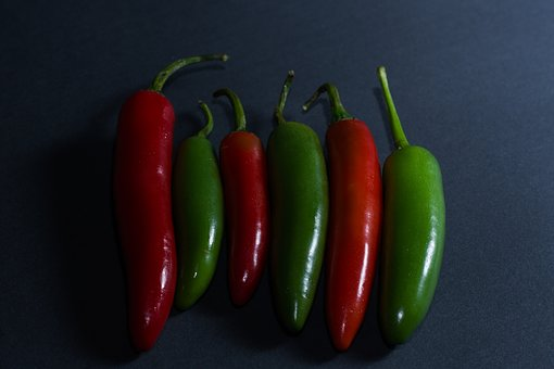 Pepper, Green, Red, Fresh, Healthy, Food, Vegetables