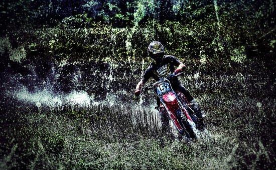Motocross, Drift, Dirt, Dust, Rider, Dirt Bike, Grass