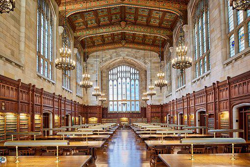 Architecture, Building, Law, Library, Interior, Old