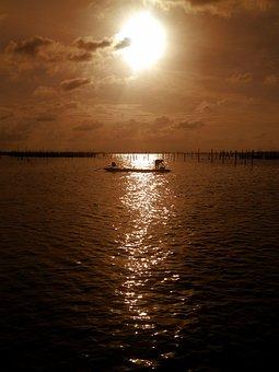 Fishing At Sunset, Koh Yor Island, Songkhla, Southern