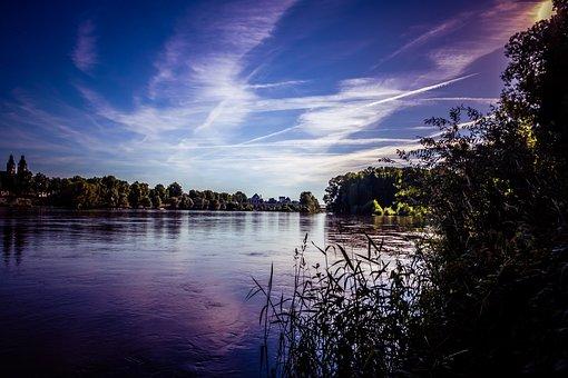 Body Of Water, Lake, Sunset, Reflection, Dawn