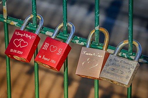 Love, Loyalty, Oath, Love Locks, Padlocks, Promise