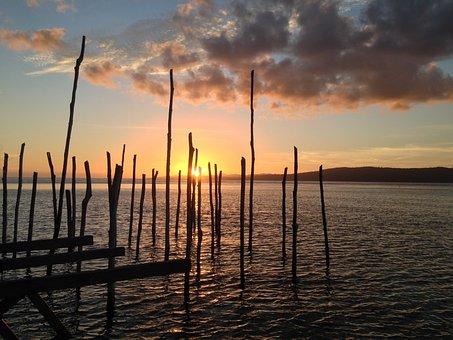 Sunset, Sea, Landscape, Summer, Nature, Reflection