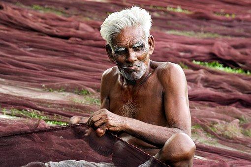 Bangladesh, Fisherman, Net