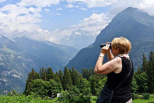 Mountains, View, Outlook, Environment, Nature, Woman