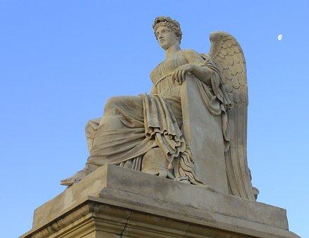 Statue, Paris, France, Greek Goddess, Tuileries Garden