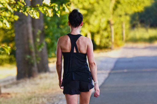 Person, Young Woman, Walking, Running, Training