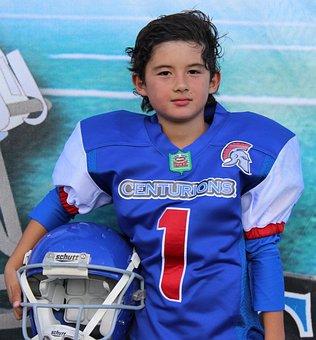 Child, American Football, Quarterback, Sport